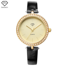 FTV Enterprise Vogue Faux Diamond Girls Watch Date Elegant Excessive High quality Wristwatch Ladies Out of doors Leisure New 2017 Relojes Mujer