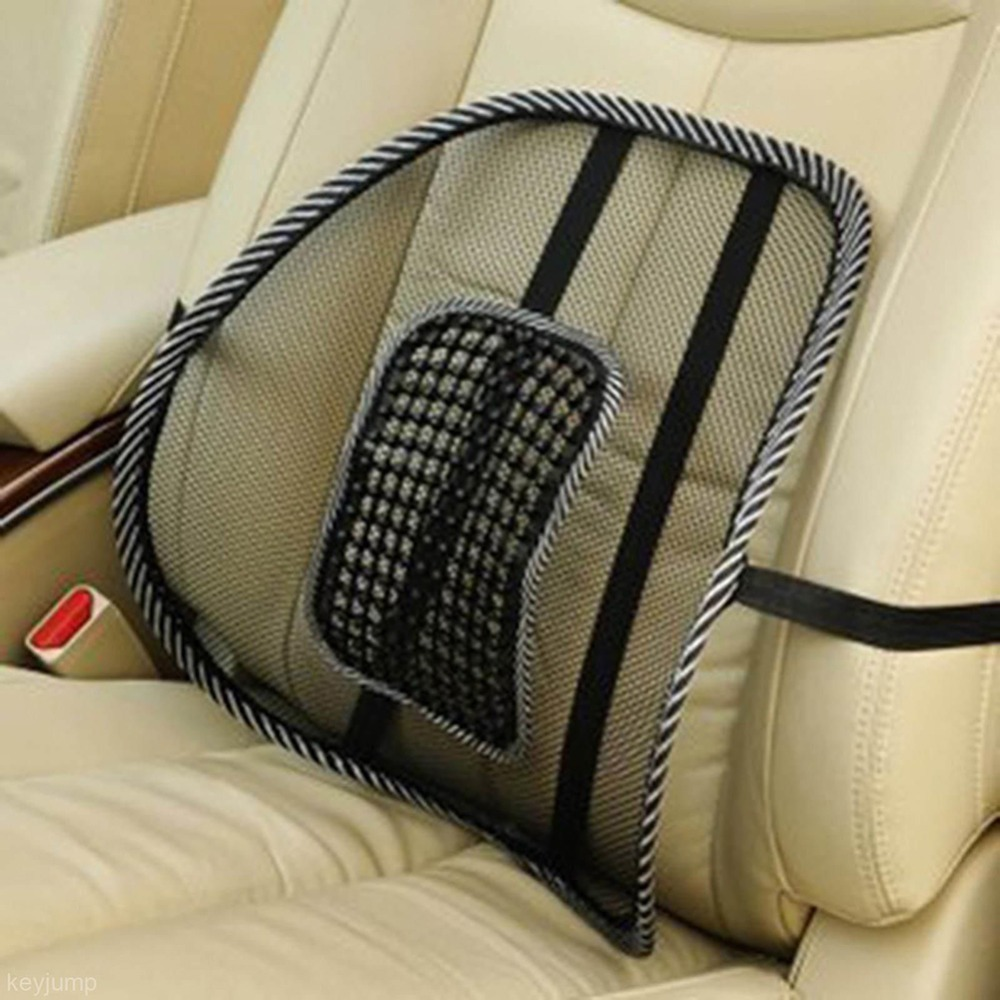 Car Seat Chair Cushion Cool Support Car Cushion Pad High Quality Mesh Fabric Back Brace Support Office Home Back Waist Brace
