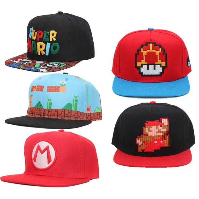 286b497980bc9 Game Super Mario Odyssey Cappy Hat Anime Bros Luigi Waluigi Wario Caps  baseball Soft Cosplay toys