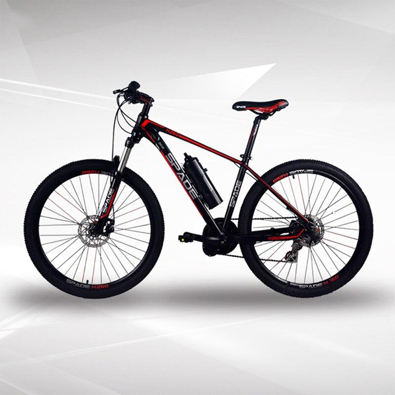 Электрический горный велосипед 26/27. 5 дюймов, Электрический горный велосипед 240 Вт, мотор среднего привода 36 в 6 А. Ч, литиевая батарея, горный
