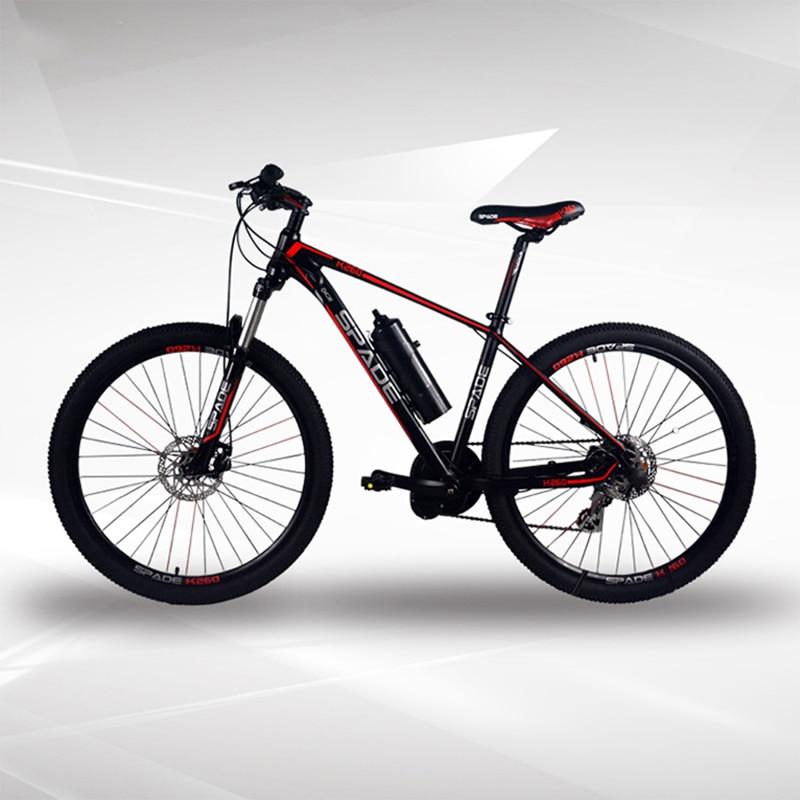 26/27.5inch e bike electric mountain bike 240W Mid drive motor 36V6AH lithium battery mountain bike Smart bicycle