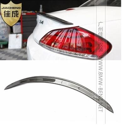 Car Styling 3D Style Carbon Fiber Rear Wing Back Trunk Lip Spoiler Splitter Fit For BMW Z4 E89 2009-2014 olotdi car styling carbon fiber back lip rear bumper diffuser spoiler splitter for porsche macan 2014 2016