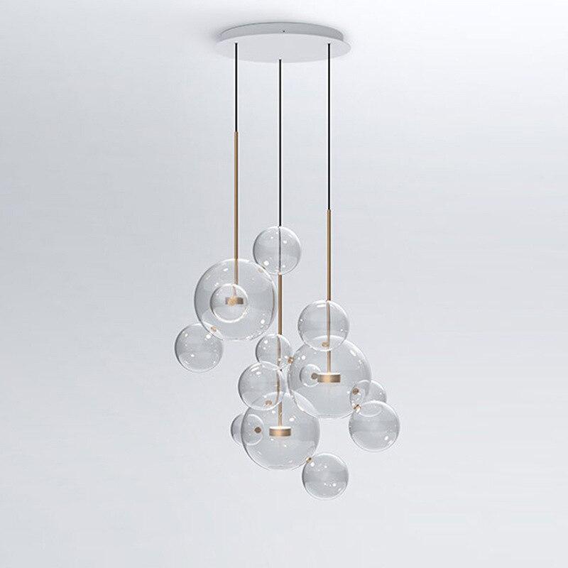 Lampadari A Palla Moderni.Us 85 56 38 Di Sconto Trasparente Palla Di Vetro Soggiorno Lampadari Art Deco Lampada Bolla Tonalita Lampadario Illuminazione Di Interni Moderni