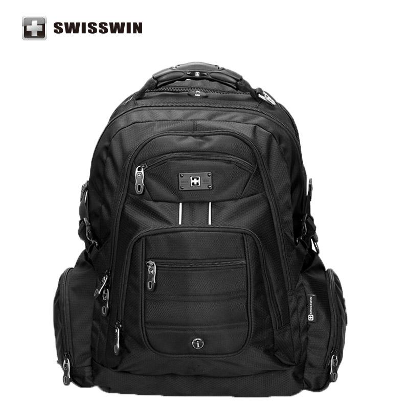 """Prix pour Swisswin hommes de 15.6 """"ordinateur portable notobook sac à dos étanche sac d'ordinateur en nylon d'affaires grand voyage bagpack mochilas"""