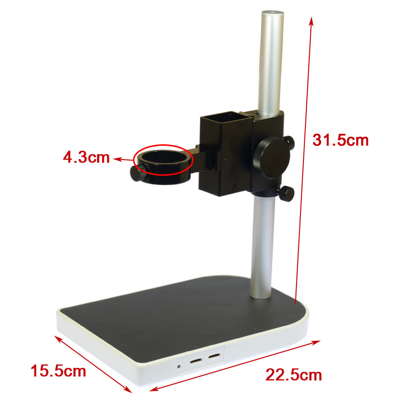 40mm Large Adjsutable Stereo Digital Industry Lab Microscope Lens Table Stand Dual Ring Holder ccd industrial camera holder up and down regulation digital industry lab 40mm monocular microscope lens table stand fixed holder