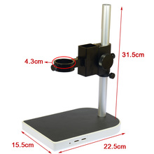 Sale 40mm Large Adjsutable Stereo Digital Industry Lab Microscope Lens Table Stand Dual Ring Holder