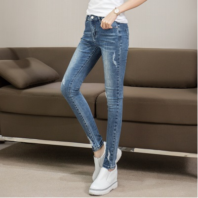 New arrival Women high waist Jeans femme Plus Size push up Pants Pencil Casual Brand Fashion boyfrien ripped jeans for women 2017 new jeans women spring pants high waist thin slim elastic waist pencil pants fashion denim trousers 3 color plus size