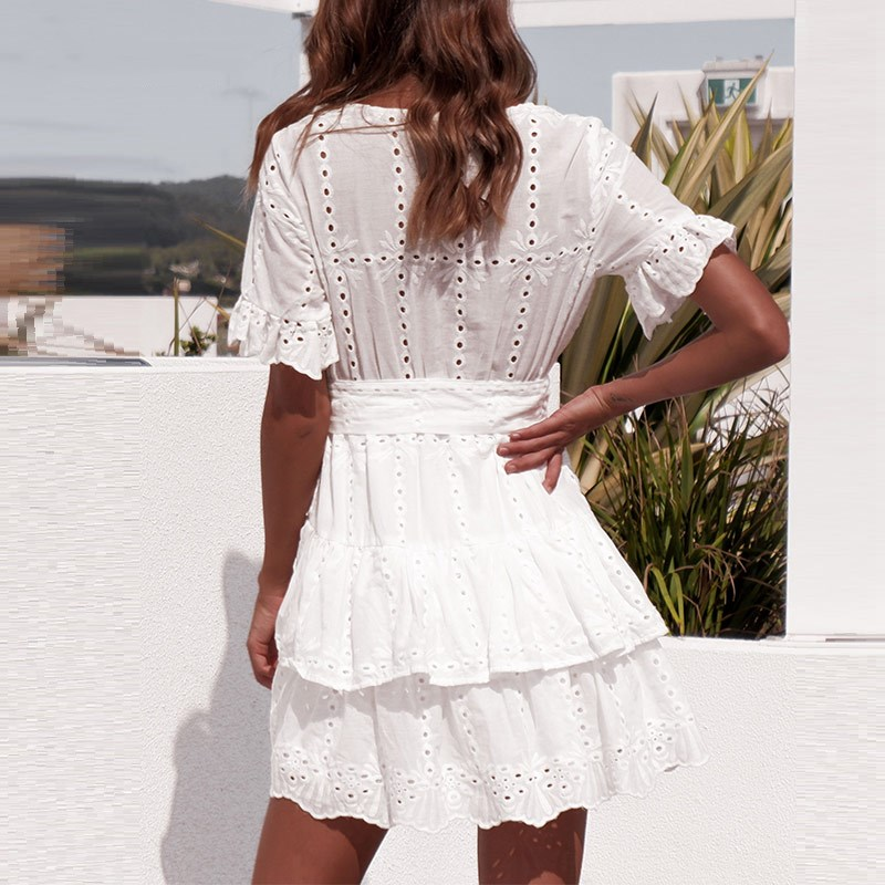 DICLOUD-White-Embroidery-Cotton-Dresses-Summer-Women-Short-Sleeve-Casual-Beach-Sundress-Sexy-V-Neck-Hollow (3)
