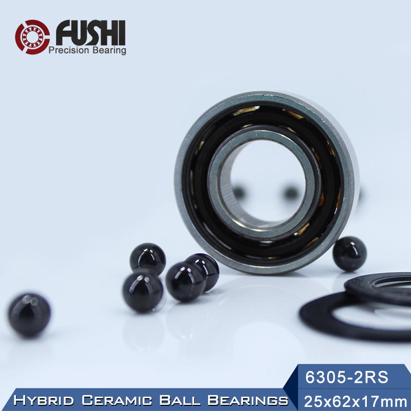 6305 Hybrid Ceramic Bearing 25*62*17 mm ABEC-1 ( 1 PC) Industry Motor Spindle 6305HC Hybrids Si3N4 Ball Bearings 3NC 6305RS6305 Hybrid Ceramic Bearing 25*62*17 mm ABEC-1 ( 1 PC) Industry Motor Spindle 6305HC Hybrids Si3N4 Ball Bearings 3NC 6305RS