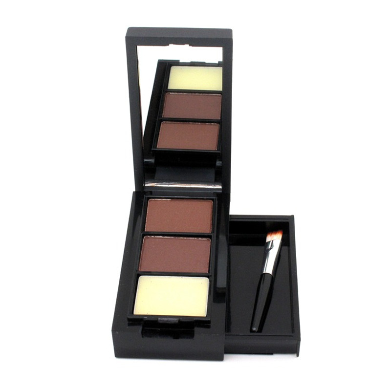 eyebrow shadow. menow brand eye makeup shadow brow pro professional 2 color eyebrow powder set+ wax palette + brush -in enhancers from beauty