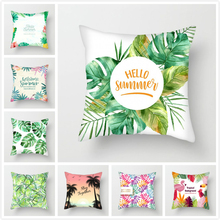Fuwatacchi Plant Pillow Covers Leaves Throw Pillows Green Cushion Covers  for Sofa Home Chair Decorative Pillowcases 2019 цены