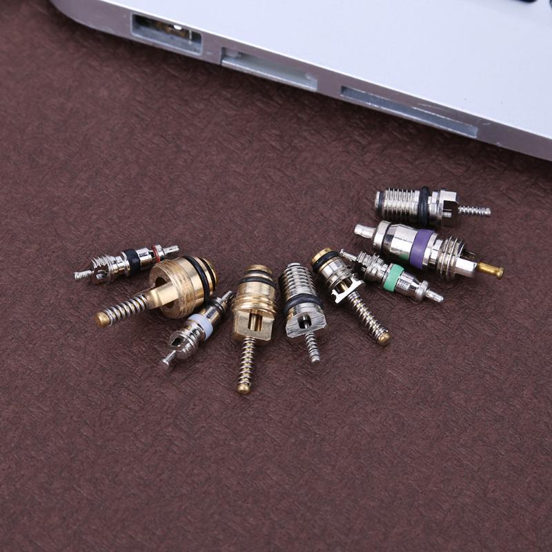 134 шт. r134a автомобильные a/c Клапан Core VOITURE кондиционер ассортимент для снятия Комплект Инструменты для ремонта автомобилей Accessaries