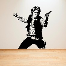 Star Wars Vinyl Wall Art Mural Han Solo Poster Decal Home Decoration Removable Popular Moive Sticker AY684