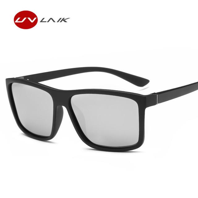 UVLAIK Men Polarized Sunglasses Mens Brand Vintage Driving Movement Sun Glasses Men Driver Safety Protect UV400 Eyeglasses