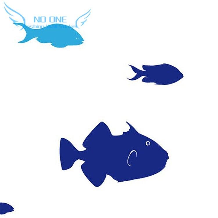 Fisch Wand Aufkleber Set von 24 Fisch Aufkleber in zwei Farben ...