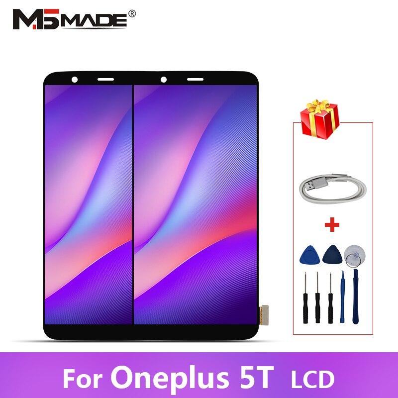 Original Para Oneplus 5T A5010 LCD Display Substituição Peças de Montagem Digitador Da Tela de Toque Com Quadro AAA Qualidade 100% Testado