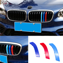 For BMW 3 Series 3D Car Styling Front Grille Trim Sport Strips Cover Power Performance Stickers for 2005-2009 E92 E93