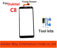 Angcoucoux TouchScreen For Oukitel C8 Touch Screen Glass Panel Digitizer Replacement For Oukitel C8 Front Glass
