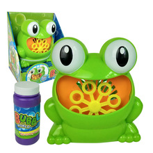 Childrens Kids Bubble Blowing Machine Blower Automatic Frog Shape Gift Birthday Party S7JN