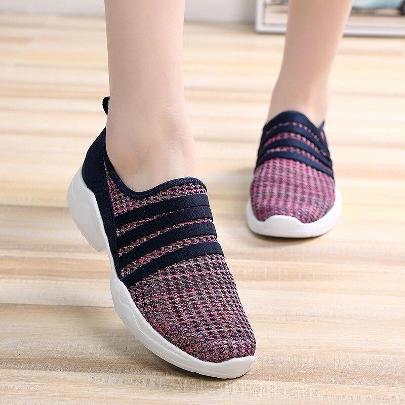 Casual-Shoes Comfortable Flat Female Fashion Women Feminino Mujer Lightweight Tenis Deportiva