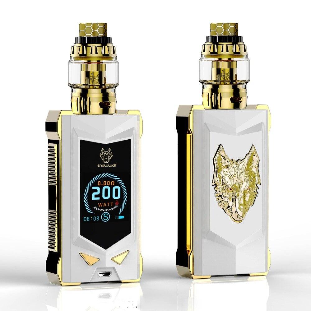 Новейшая электронная сигарета комплект vape комплект 100% Оригинал sigelei snowwolf MFENG 200 Вт Супер мощность