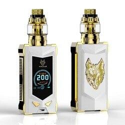 NEUESTE elektronische zigarette kit vape kit 100% original von sigelei snowwolf mfeng 200W SUPER POWER