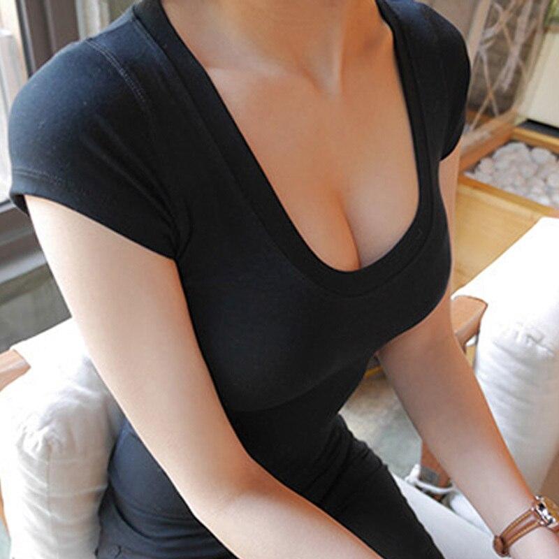 Estate Nuove Donne di Modo di Marca Tee Magliette e camicette Del Manicotto Del Bicchierino Del Cotone Magliette e camicette Per Le Donne Abbigliamento Solido t camicia di Base camicia