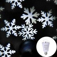 E27 4W automatyczne obracająca się lampa projektora led lampa laserowa żarówka kryształowa kula śnieżynka Halloween Christmas Party DJ scena dyskoteki lampa w Oświetlenie sceniczne od Lampy i oświetlenie na