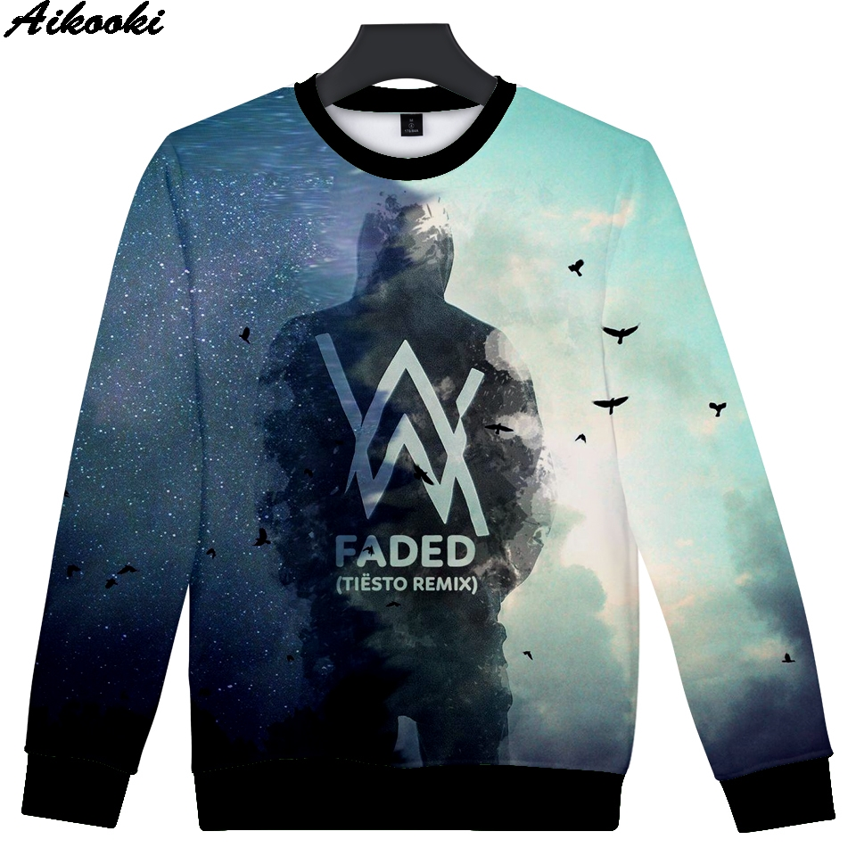 High Quality 3D Print Alan Olav Walker DJ Hooded Harajuku Men/Women 3D Pullovers Winter Capless Hoodies Sweatshirts Alan Walker