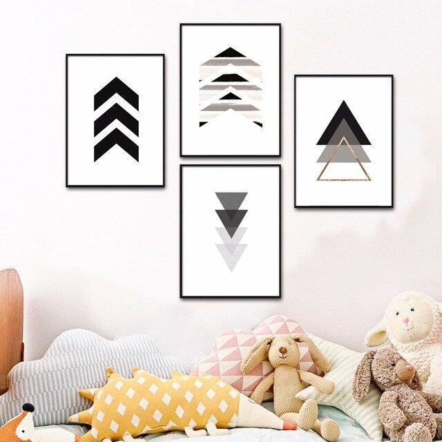 fb4c4ff5 US $4.88 51% OFF|Strzałka zestaw skandynawski grafika obraz drukowany na  płótnie plakat na ścianę zdjęcia ścienny do salonu Home dekoracyjne ...