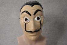 10Pcs/lot Comedy Master La Casa De Papel Dali Mask Halloween Masquerade Cosplay Funny Accessories
