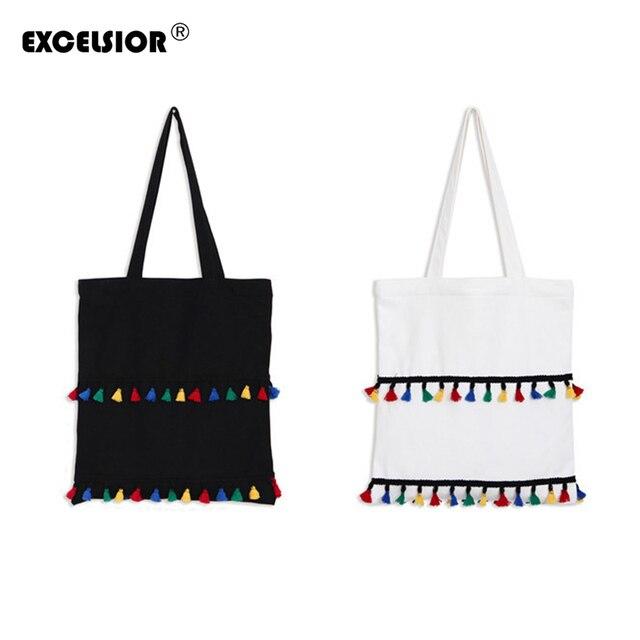 Excelsior 2017 женщины сумка холст сумка винтаж кисточкой национальная этническая холст сумки женские сумки женщины сумка