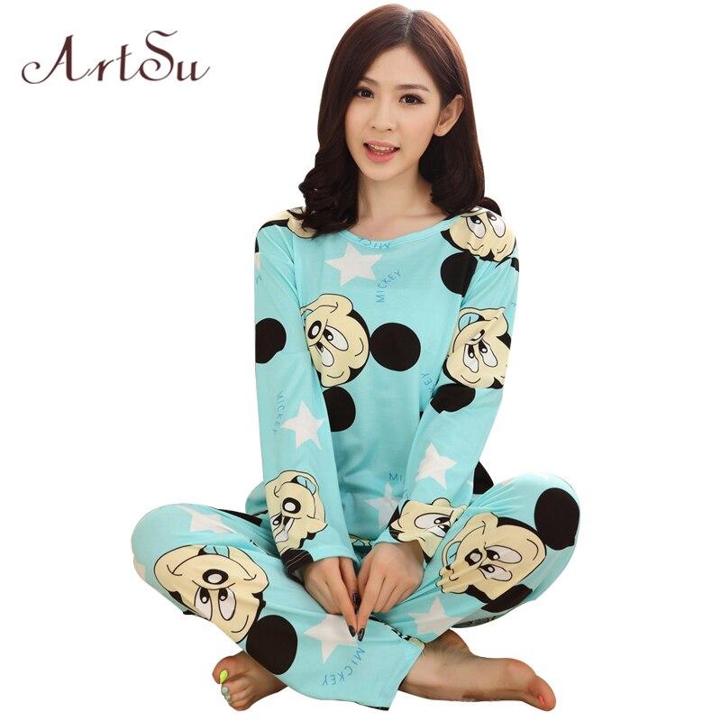 ArtSu Clothing 2 Piece Women Pajama Sets Cute Sleepwear ...