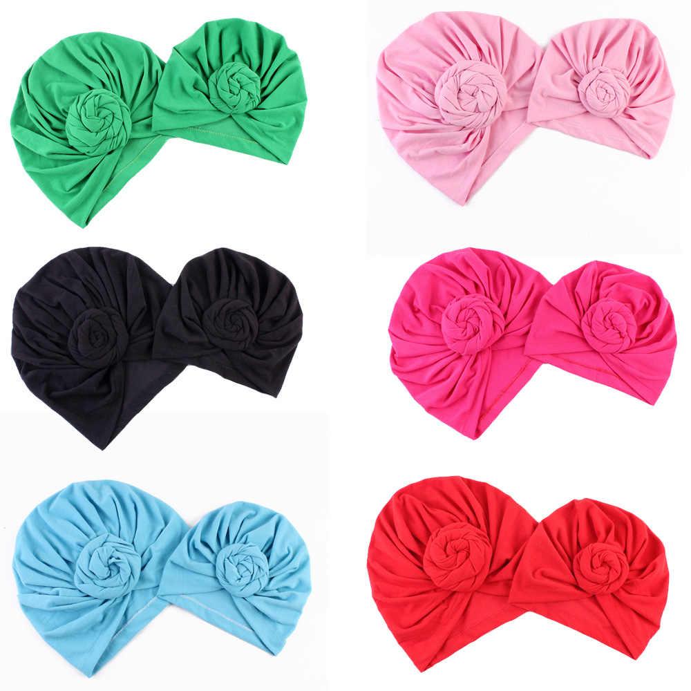 NISHINE nowa mama i ja mieszanka bawełny ręcznie kapelusz kobiety czapki dziewczynek Turban kapelusze Twist Knot nakrycia głowy akcesoria do włosów