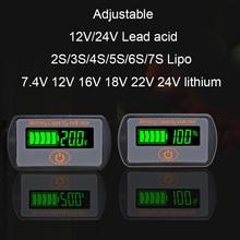 2 S 3 S מתכווננת 4S 5S 7 S סוללת ליתיום מחוון קיבולת LY7 עופרת חומצה 12 V Li Ion 24 V עופרת חומצה ebike מד מתח Tester LCD