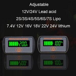 Image 1 - Indicateur de capacité de batterie au Lithium réglable 2 S 3 S 4 S 5 S 7 S LY7 12 V 24 V acide de plomb Li ion testeur de voltmètre ebike LCD