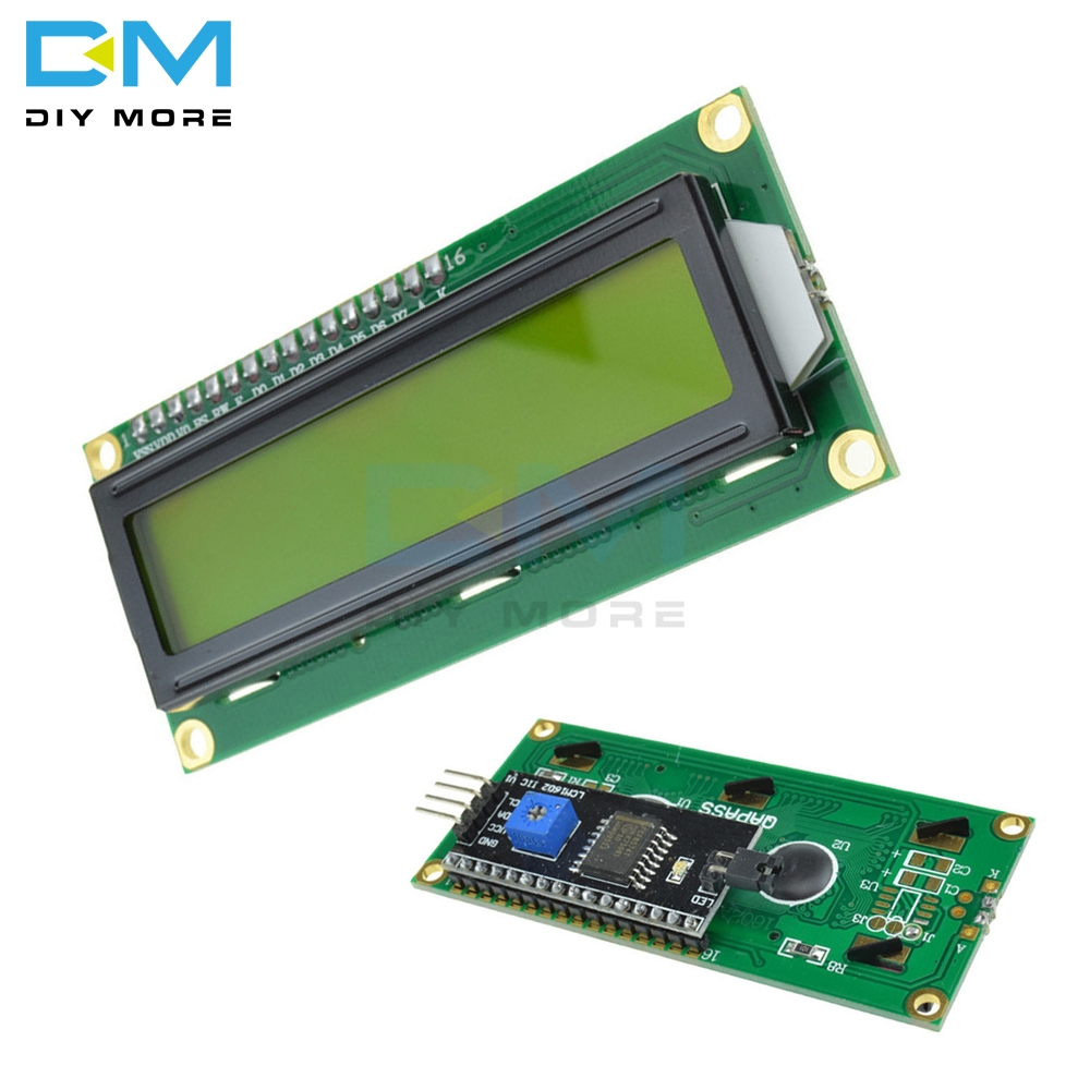 <font><b>16x2</b></font> Yellow Digital Backlight <font><b>Display</b></font> Module Board For Arduino IIC I2C TWI SPI Serial Interface 1602 16 X 2 Character <font><b>LCD</b></font> 5v image