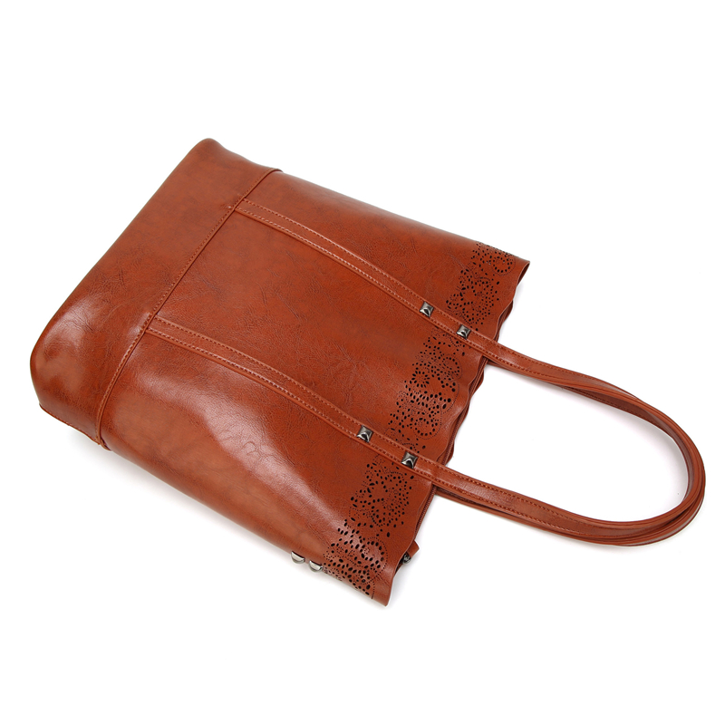 Hollow Out Vintage luxury handbags women bags High Quality PU Leather Designer Women Shoulder Bag Large Tote Messenger Bags Work