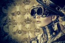 cool top fashion model steampunk PSS05 home decor room decoration wall art canvas fabric poster print (frame available)