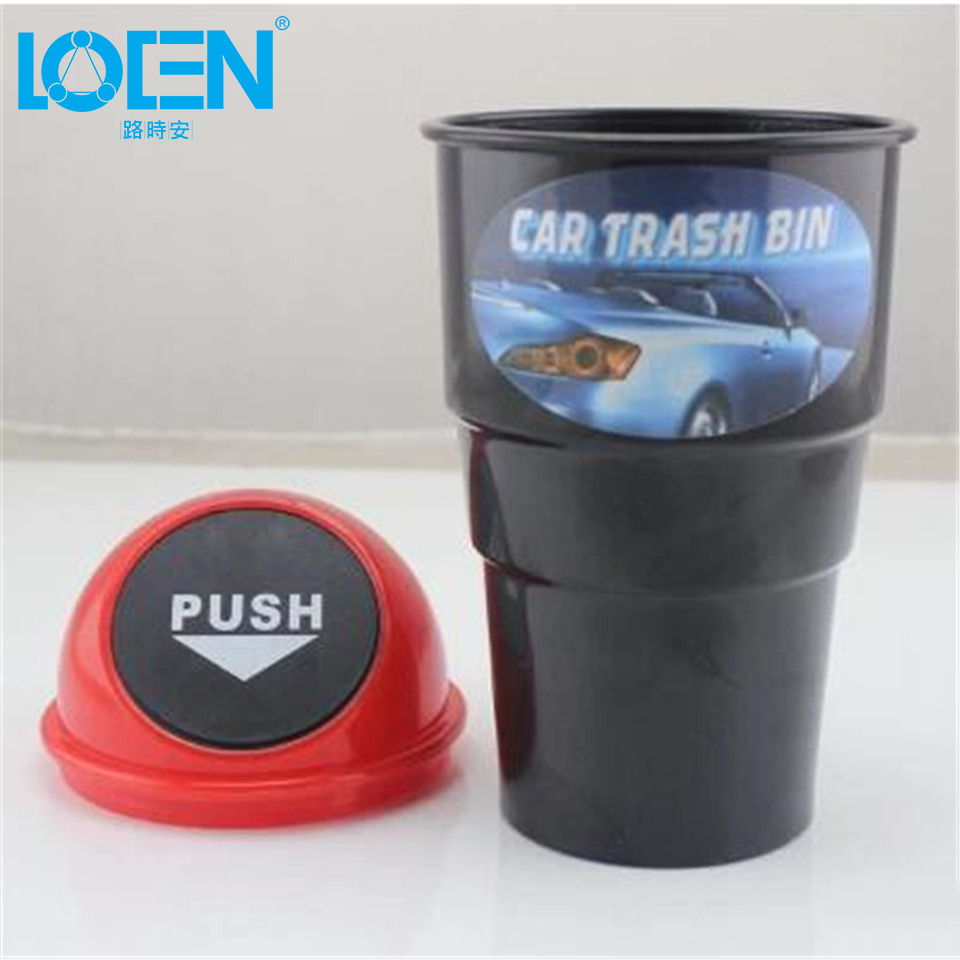 car garbage can car trash rubbish can dust case holder bin portable interior litter container. Black Bedroom Furniture Sets. Home Design Ideas