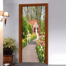 Настенная 3d наклейка на дверь стикер из натуральной ПВХ для
