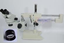 Fyscope 3.5X-45X! ДВОЙНОЙ Boom Stand бинокль стереомикроскоп WF10X/20 мм SZM0.5X