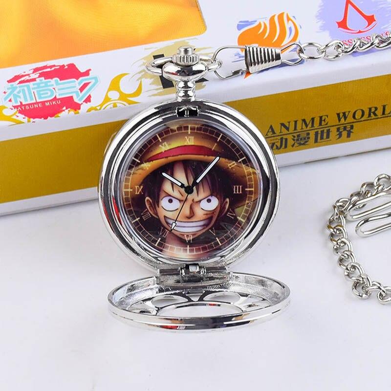 Fashion Casual Quartz Pocket Watch Anime One Piece Theme ...