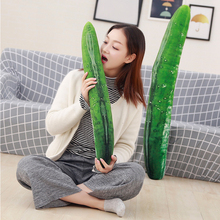 55/70/110cm Huge Creative Simulation Cucumber Plush Toy Soft Stuffed Cute Fruits Pillow Funny Kids Children Birthday Gift Doll стоимость