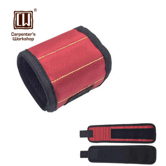 Magnetic Wristband Strong Magnetic Tool Wrist Band Magnet Pickup Hand Pulling Super Magnet Wristband (Three Rows)