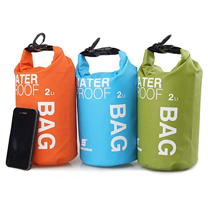 2L Outdoor Waterproof box Camping hiking PVC waterbag waterproof bag Traveling Ultralight Rafting Bag Camping Dry Bags