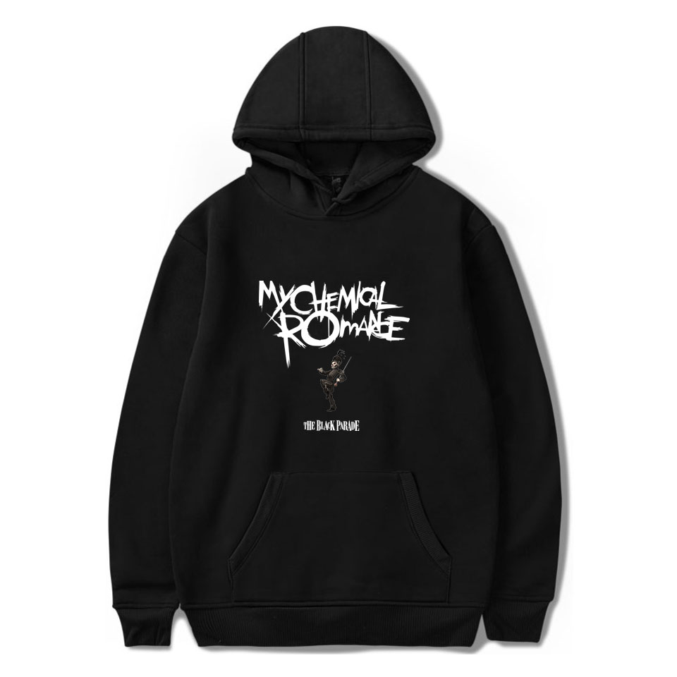 My Chemical Romance Hoodies Men And Women Black Parade Punk Emo Rock Hoodie Sweatshirt Fall Winter Jacket Coat Oversize Clothes