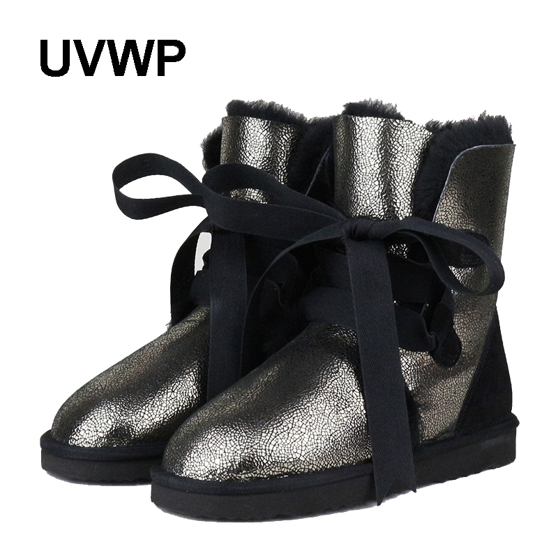 New Top Quality Fashion Women Snow Boots Genuine Sheepskin Leather Winter Boots 100% Natural Fur Warm Thick Wool Women Boots new fashion brand women snow boot genuine sheepskin leather snow camouflage boots natural fur winter boots warm wool women boots