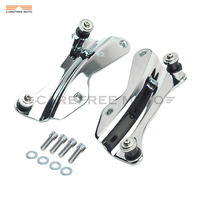 1 pair Chrome Motorcycle Docking Hardware 4 FOUR POINT case for Harley Road King Street Glide Harley Touring 2014 2015 2016