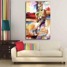 Haochu Красивая Обнаженная холщовая картина для гостиной домашний